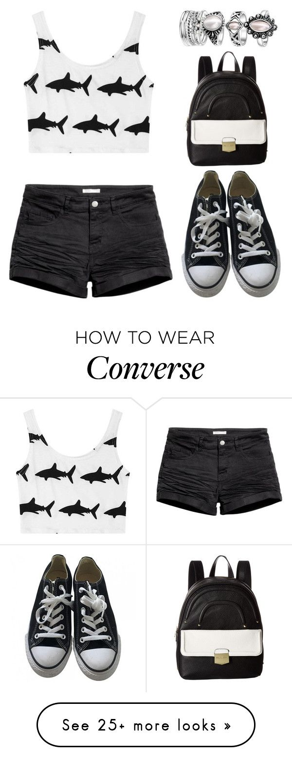 """""""Shark Print"""" by tlb0318 on Polyvore featuring Chicnova Fashion, H&M, Converse and Steve Madden"""