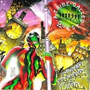 """1996   A Tribe Called Quest release their fourth album, """"Beats, Rhymes, & Life."""" For the first time in their storied career, the trio is bashed for releasing a half-hearted album."""