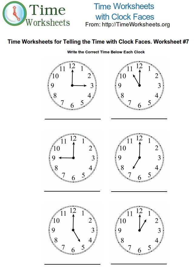 math worksheets | Telling Time Worksheets