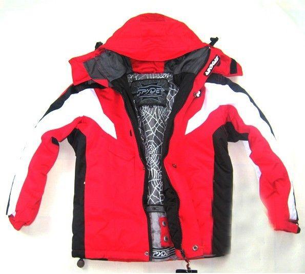 Spyder Kids Ski Wear Red White 01