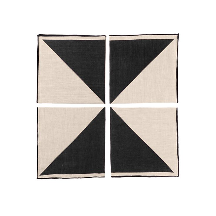 Two-Color Napkins (Set of 4) - Kate Spade Saturday