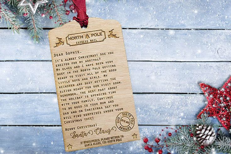 Personalised Wooden Santa Letter deal in Art Get a personalised Santa letter!  Personalise with your chosen name.  On a 140 x 82mm wooden plaque.  With a ribbon to hang and display.  Dazzle and delight this Christmas! BUY NOW for just £1.99 Check more at http://nationaldeal.co.uk/personalised-wooden-santa-letter-deal-in-art/