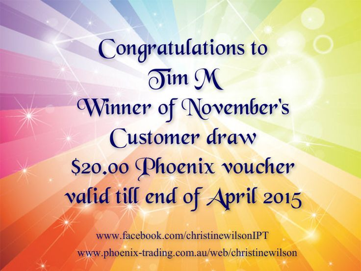 $20 voucher winner for customer draw