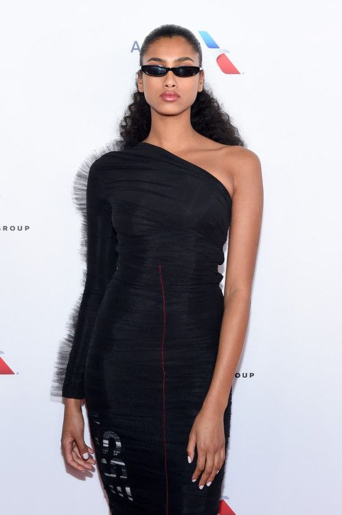 Imaan Hammam attends the Universal Music Group's 2018 After Party for the Grammy Awards