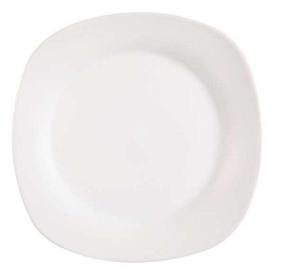 Diesen eckig geformten Dessertteller aus Porzellan von HOMEWARE können Sie auch problemlos in der Mikrowelle verwenden oder mit in der Spülmaschine waschen. Aus derselben Kollektion können Sie natürlich auch weiteres Geschirr zusammenstellen. Dekorieren Sie Ihre Festtagstafel ganz chic!