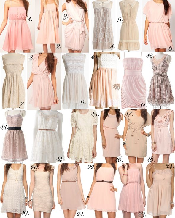 92 bridesmaid dresses for $55 or less in alot of colors :) :  wedding affordable bm bridal bridesmaid cheap dress dresses maid of honor moh shower Cream