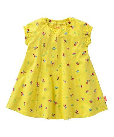Take a look at this Yellow Toad Dress - Infant & Toddler by Oilily on #zulily today!