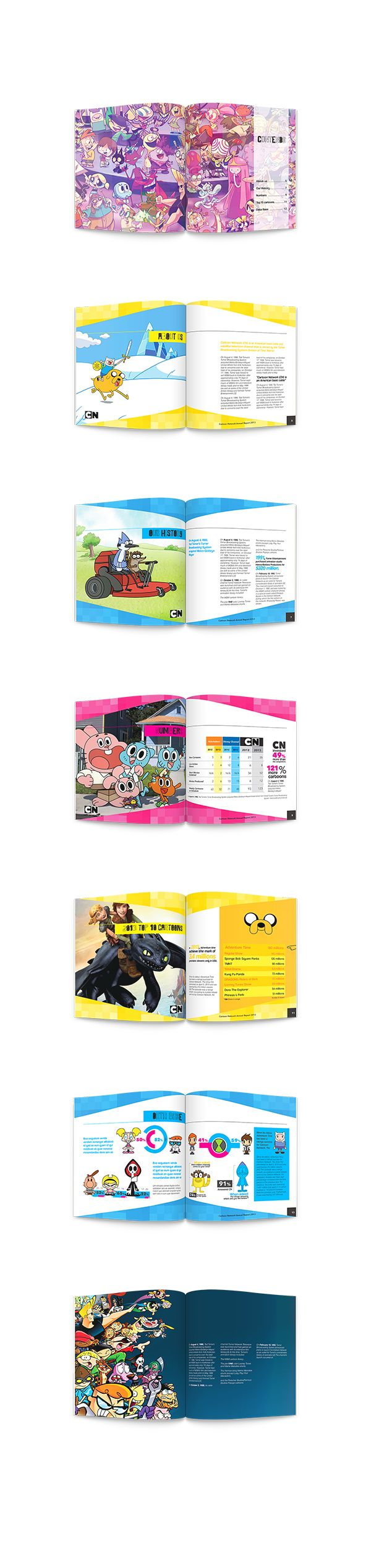 Annual report brochure for Cartoon Network.