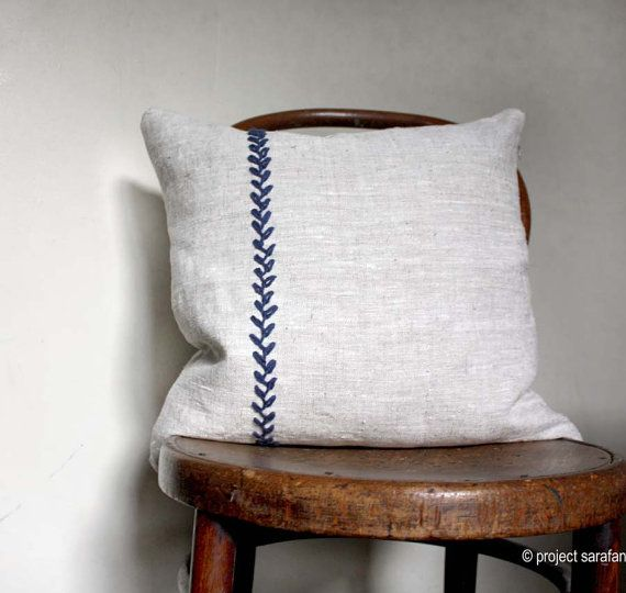 Simplicity. Natural Linen Decorative Pillow. by ProjectSarafan