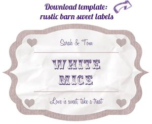 Wedding Candy Buffet Labels