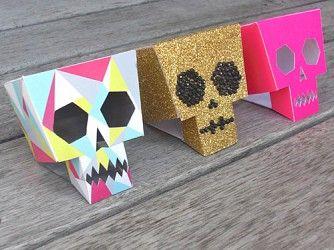 Paper toys Calaveras en 3D | Descargables Gratis para Imprimir: Paper toys, diseño, Origami, tarjetas de Cumpleaños, Maquetas, Manualidades, decoraciones fiestas y bodas, dibujos para colorear, tutoriales. Printable Freebies, paper and crafts, diy