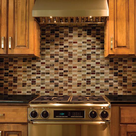 Kitchen Backsplash Mosaic Tile Designs: Daltile Melange Classic 2 X 1 Mosaic On The Backsplash
