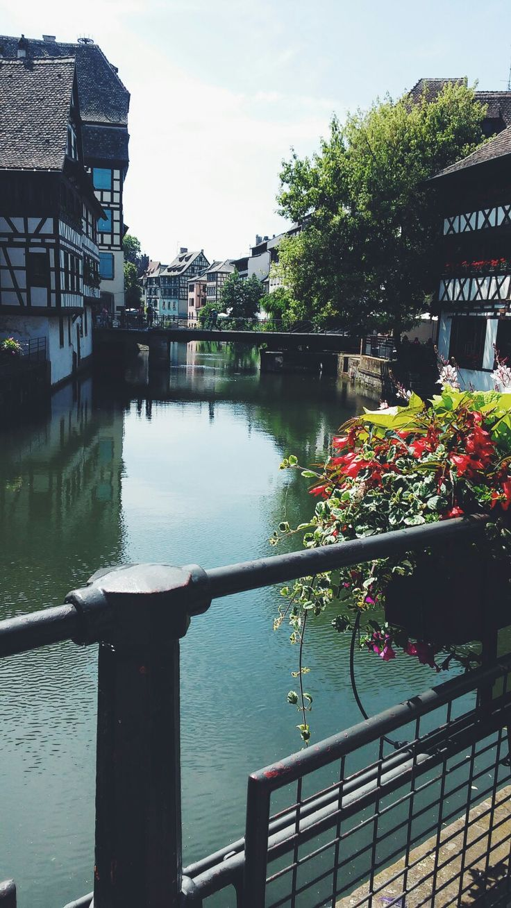 Pretty view of a river in Strasbourg   #Strasbourg #France #river #photography #tumblr #view #cute