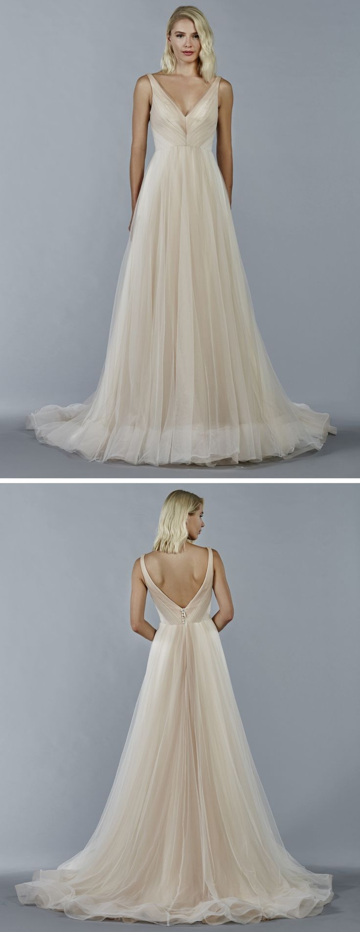 321 best Coloured Bridal Gowns images on Pinterest | Wedding frocks ...