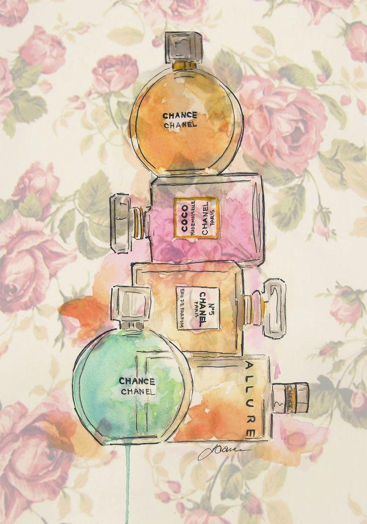 Liz Casale Illustration. #chanel #perfume