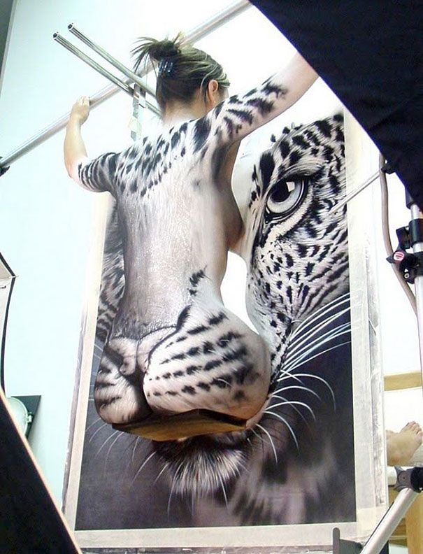 How the portrait is made...Amazing Body Art Illusions by Craig Tracy