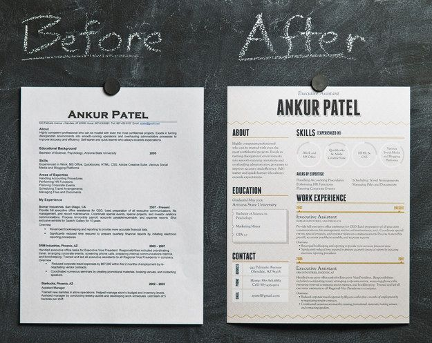 Good looking, poorly functional, Résumé designs for Stealing ...