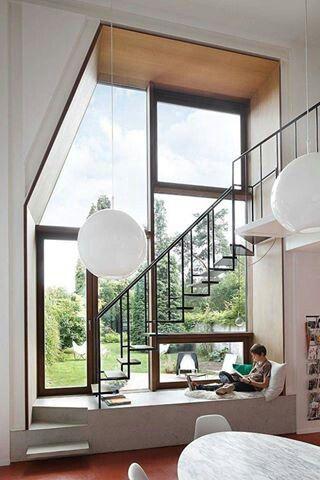 Treppenhaus nach außen verlegen  15 besten Fensterbank Bilder auf Pinterest | Erkerfenster, Fenster ...