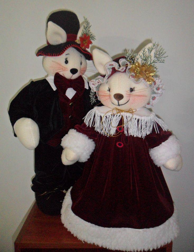 Moldes de ratones navideños gratis - Imagui