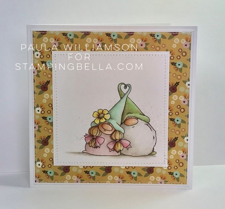 Rubber Stamp Card Making Ideas Part - 23: Www.stampingbella.com- RUBBER STAMP USED: LOVEY GNOMES, Card Made By