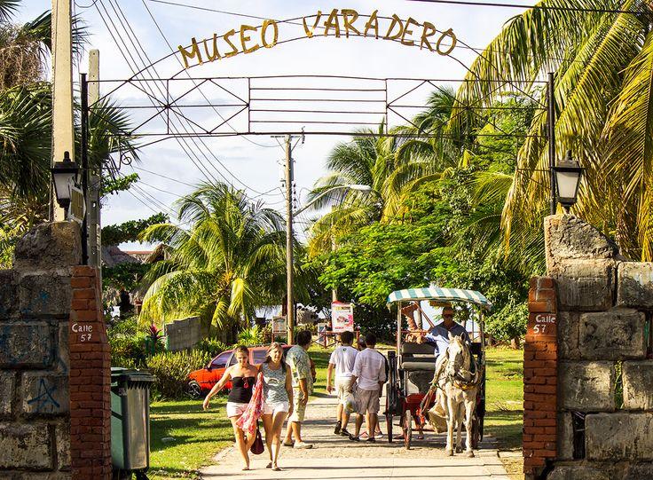 The entrance to the Varadero museum in Varadero, Cuba
