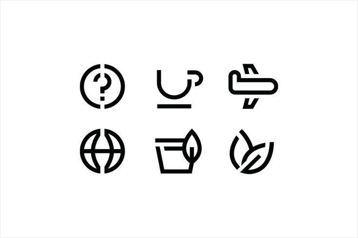 Custom iconography for tea subscription service Teabox by graphic design studio Pentagram, United States