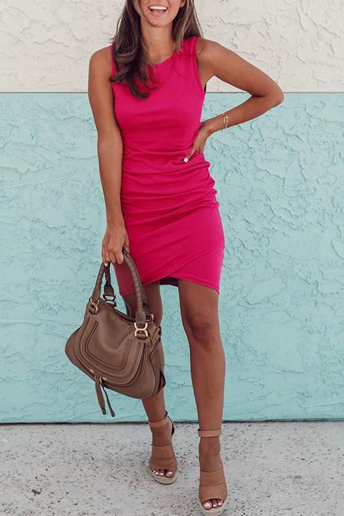 Casual Sheath Mini Dress(7 Colors) 1