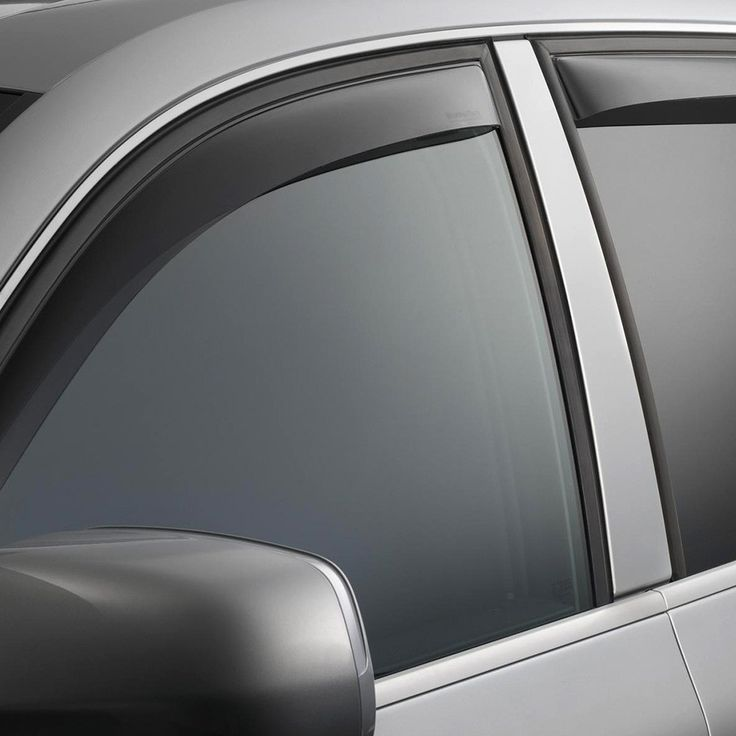 WeatherTech 82335 Series Dark Smoke Front/Rear Side Window Deflector Set - Side Window Deflectors WeatherTech(R) Side Window Deflectors, offer fresh air enjoyment with an original equipment look, installing within the window channel. They are crafted from the finest 3mm acrylic material available. Installation is quick and easy, with no exterior tape needed. WeatherTech(R) Side Window Deflectors are precision-machined to perfectly fit your vehicle's window channel. These low profile window…