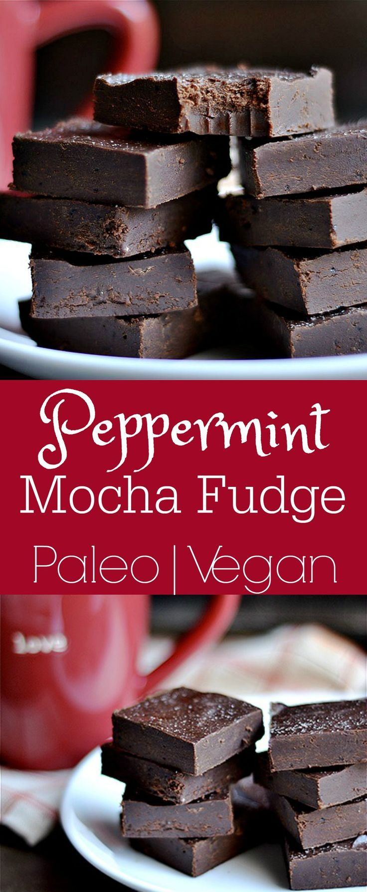 Super easy fudge made with minimal ingredients! You'll never guess it's dairy-free, Paleo, and Vegan!