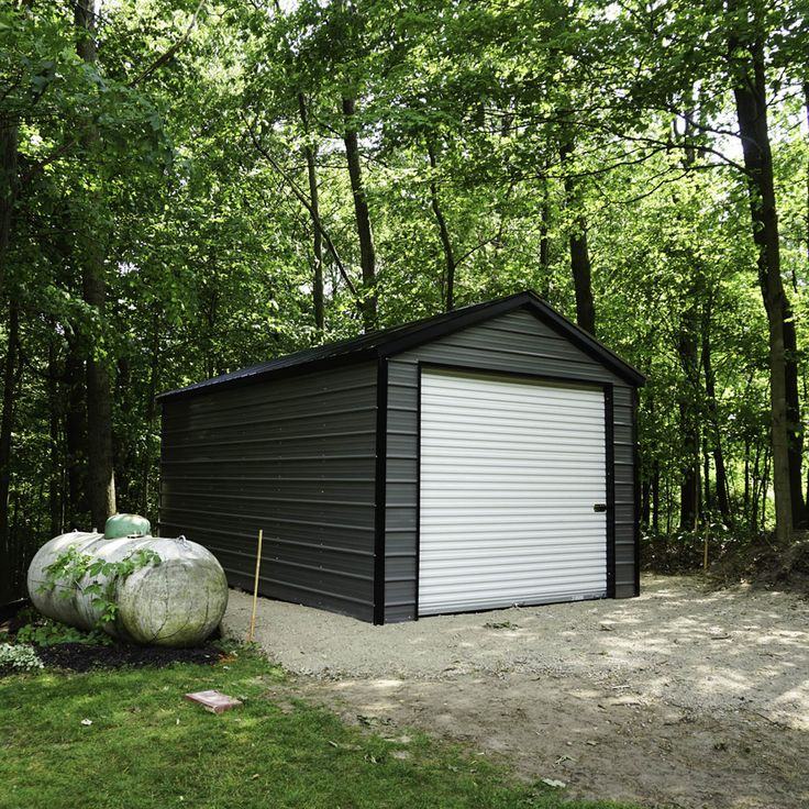 12x21x8 Metal Garage for Sale
