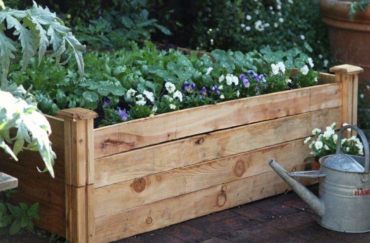 Raised Garden Bed - 2 cedar raised garden beds stacked from The Home Depot   Gardenista