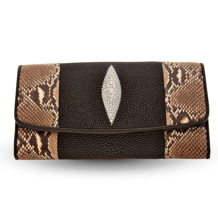 Кошелек из кожи питона и морского ската.  SALE! $80  Wallet made of python skin and sea stingray.  Purse of exotic leather.  Female beautiful wallet.  #wallet, #python skin, #stingray, #exotic leather, #кошелек из питона, #кошелек из ската #купить кошелек