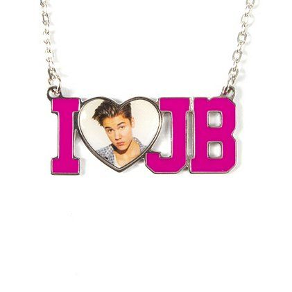 Justin Bieber fans can show their ♥ with an I Heart JB Photo Pendant Necklace!!! I LOVE JUSTIN BIEBER!!!!!