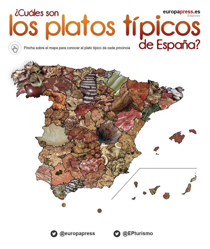 Europapress elabora un mapa con los platos más típicos de cada provincia. En Salamanca tenemos varios... ¿¿Cual creéis que han elegido?? ¿Cambiaríais alguno?