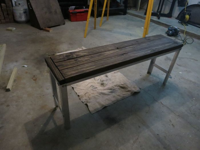 DIY Industrial Outdoor Bench
