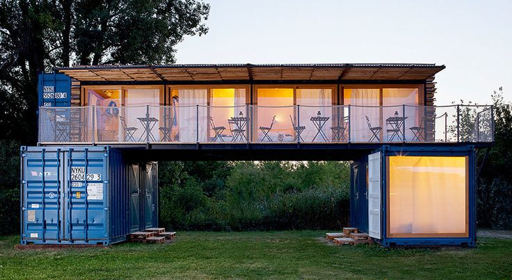 artikul architects stacks shipping container hotel in the czech republic