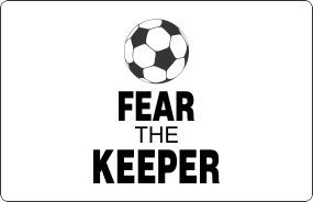sport quotes for soccer | sports wall quotes decal 2 fear the keeper soccer ball