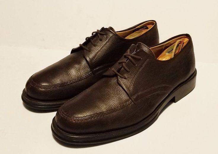 Sandro Moscoloni Vineyard Brown Leather Oxfords Split Toe Mens Shoes Size 12 D #SandroMoscoloni #Oxfords