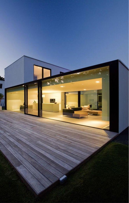 Glass wall makes for a very modern look #modern design #homedesign #home #smallhous …