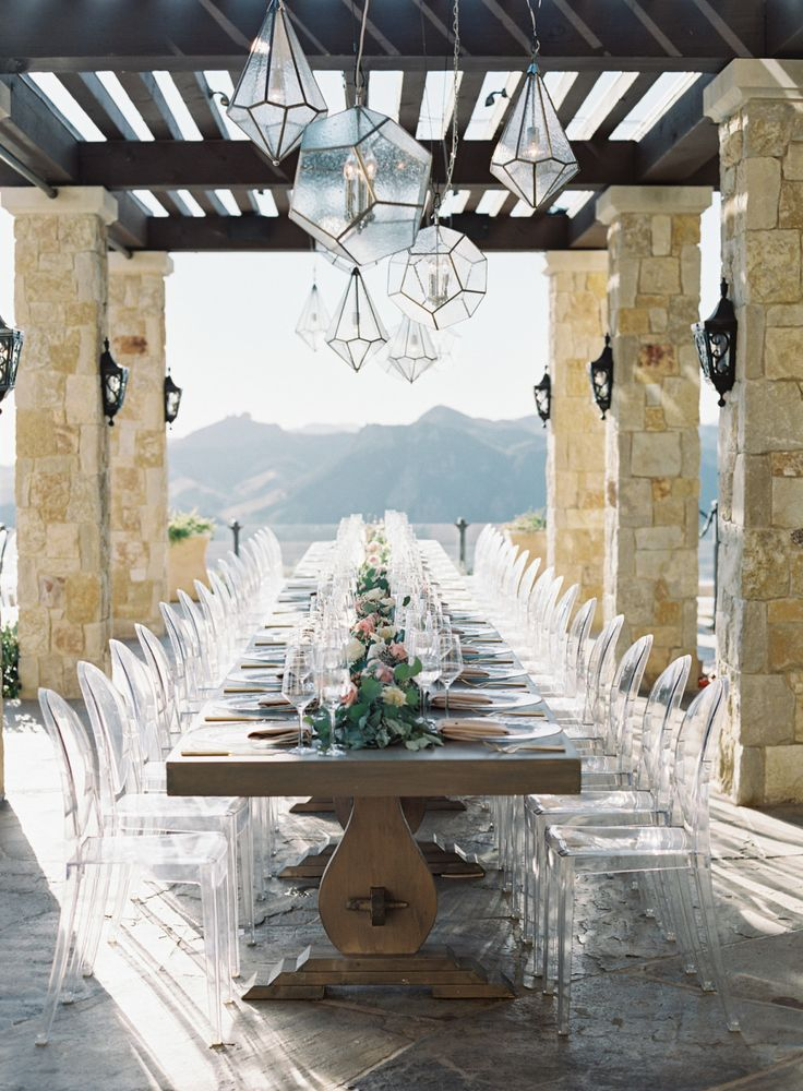 Al fresco California wedding table decor: Photography: Brian Saculles - http://www.sacullesphoto.com/