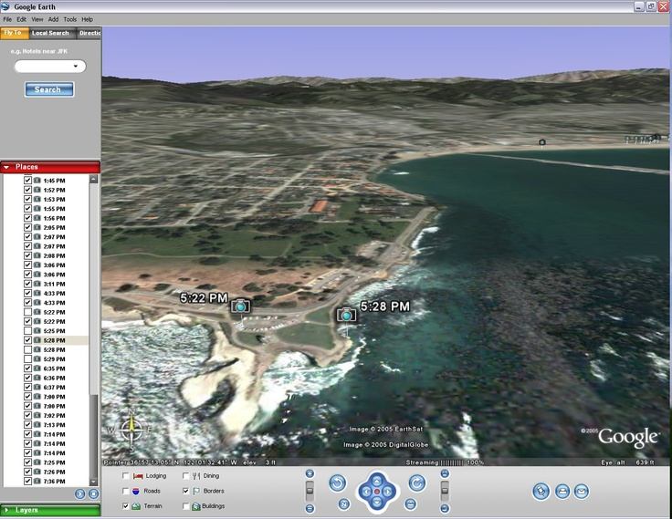 how to see view live route on google earth