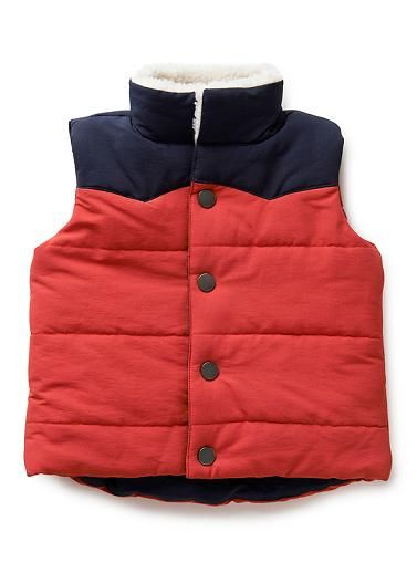 Baby Boys Jackets & Coats | Bb Colour Block Vest | Seed Heritage