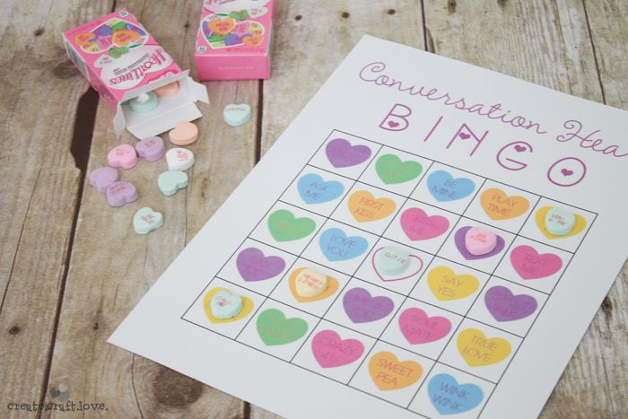 Fun Valentine's Day classroom activity - Conversation Heart Bingo!