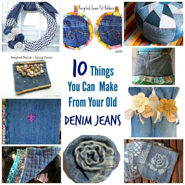 Discarded Denim: 30 Different Crafts to Make With Your Old Jeans