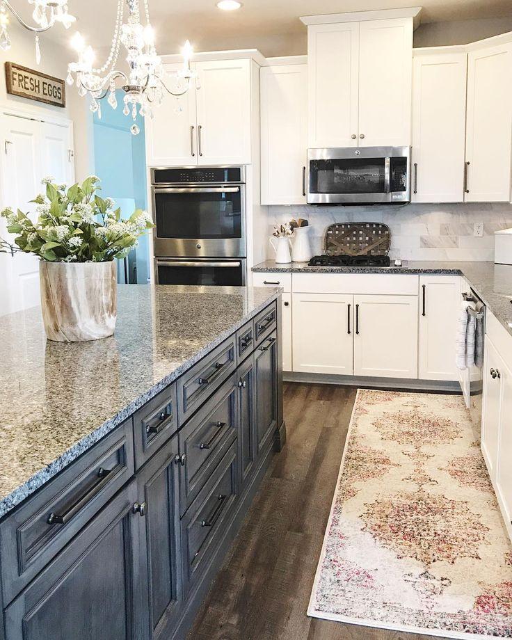 Glazed Gray + White | Kitchen Cabinets | Kitchen cabinets ...
