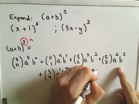 The Binomial Theorem - Example 1 Video - Teach, Assess, Analyze with the Largest K-12 Resource Catalog