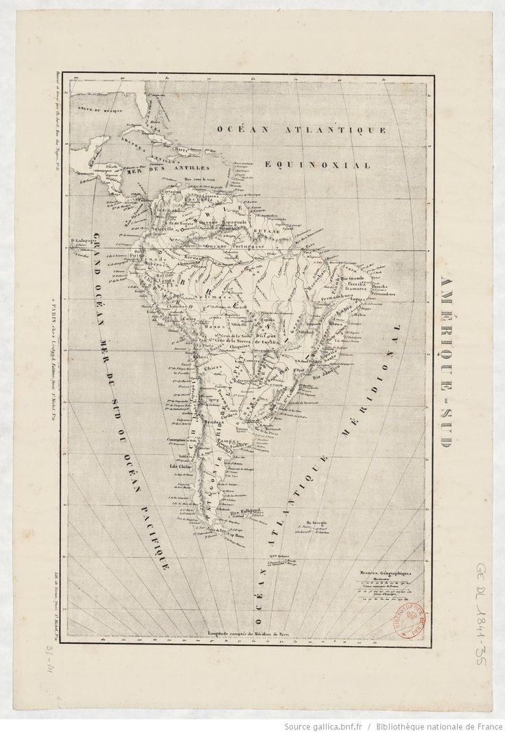 Amérique-Sud / dessiné et gravé par Ch. Avril ; lith. de Simon