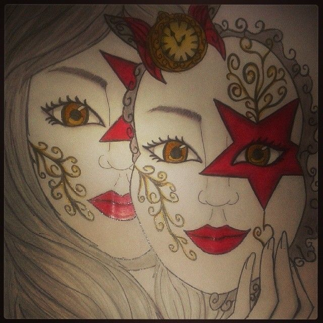 #drawing #masquerade #time