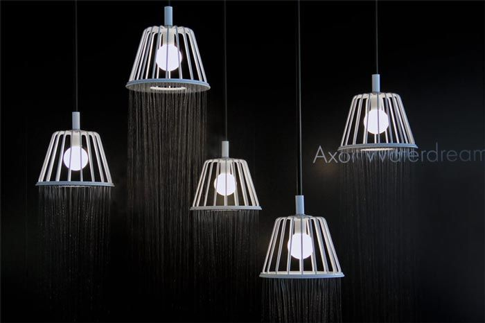 Axor Waterdream Shower Head by Nendo (VIDEO). Lighting that makes a difference. Read more at jebiga.com