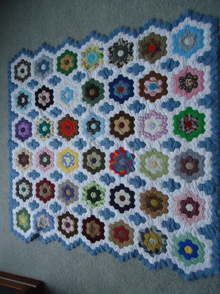 116 best images about grandmother 39 s flower garden on - Grandmother s flower garden quilt ...